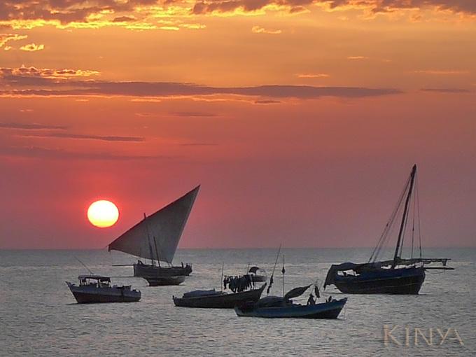 Zonsondergang Stonetown, Zanzibar