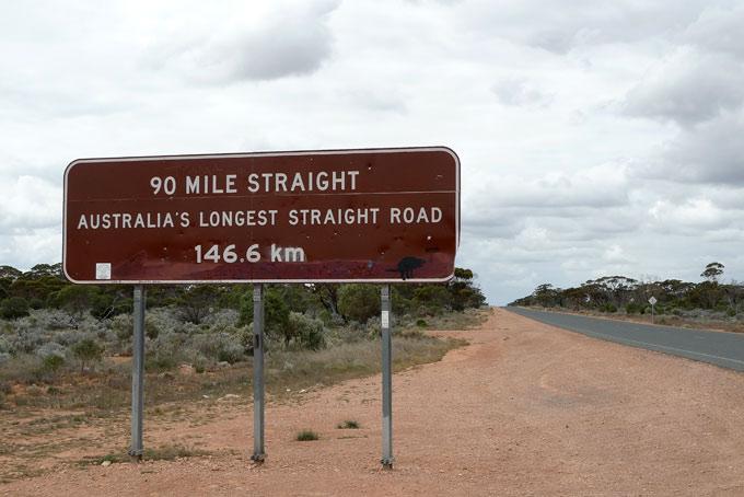 Rechte weg van 147 kilometer...