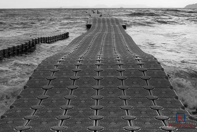 Straat ooit gemaakt door stratenmakers op zee.