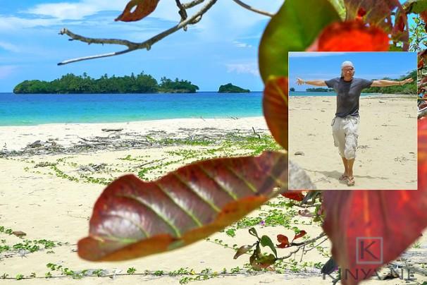 Brandend zand op een verloren strand, Bocas Panama