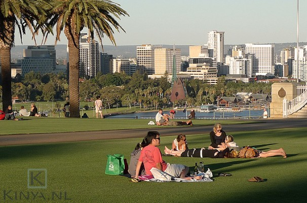 Kings Park in Perth, de huidige versie van Seurat's 'sunday afternoon'